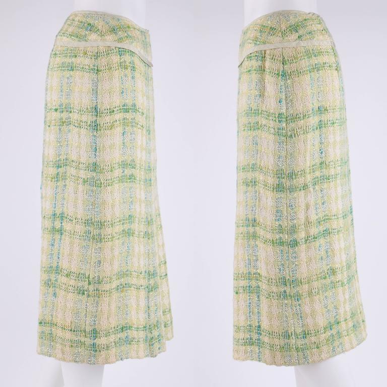 CHANEL Boutique S/S 1984 2 Pc Classic Tweed Blazer Jacket Skirt Suit Set 40 / 46 6
