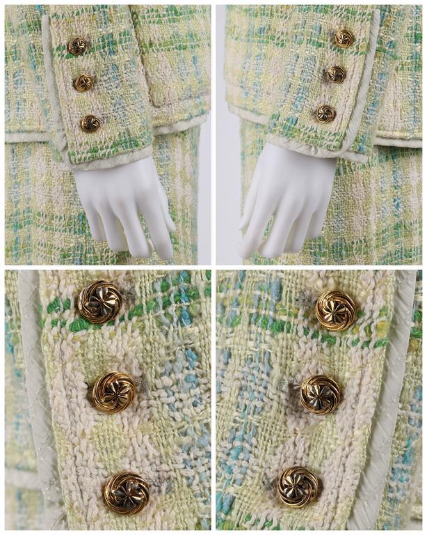 CHANEL Boutique S/S 1984 2 Pc Classic Tweed Blazer Jacket Skirt Suit Set 40 / 46 7