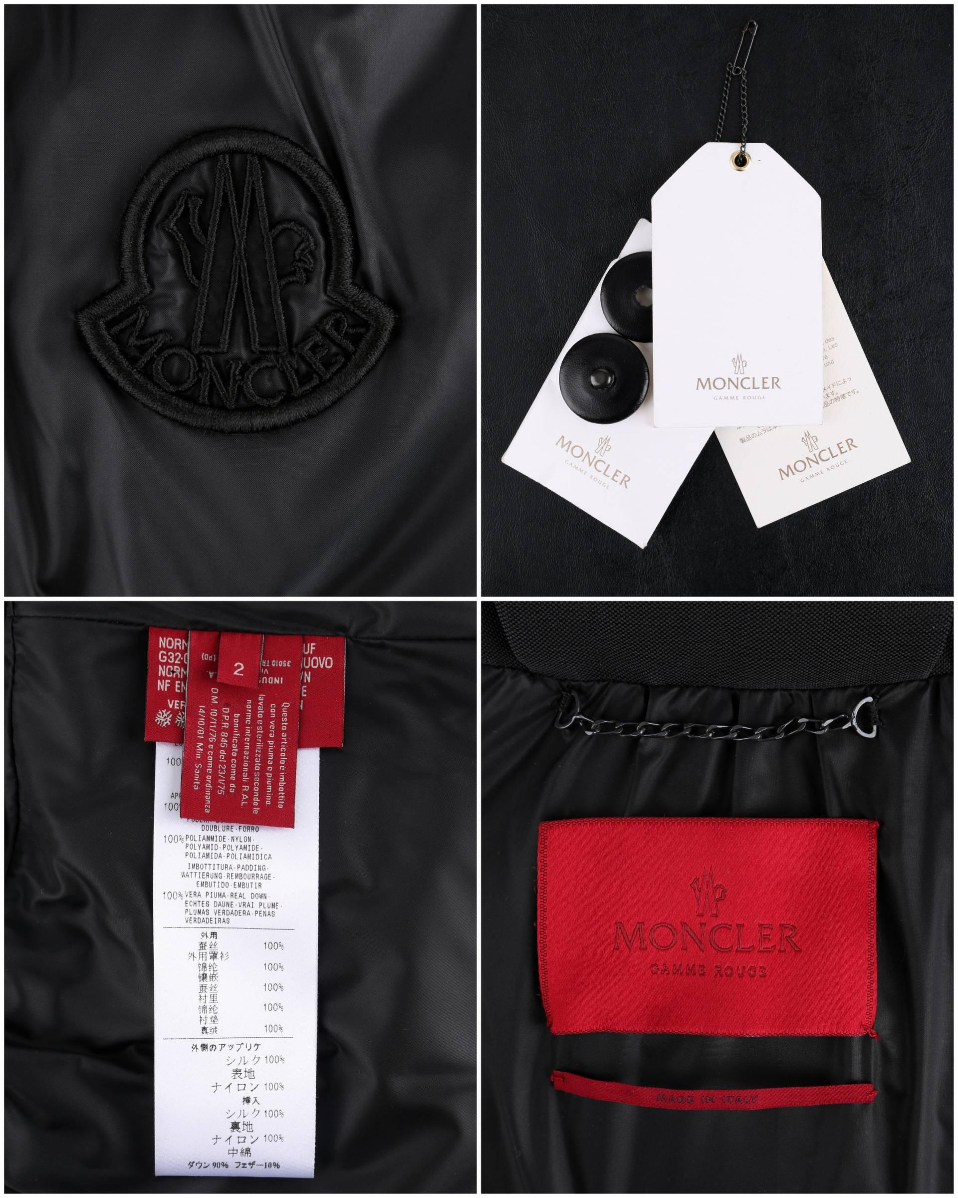 Moncler 2008 Gamme Rouge Gaimbattista Valli Black Beaded