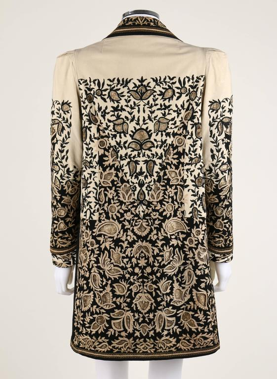 COUTURE c.1910's Edwardian Museum Piece Embroidered Cutwork Lace Jacket Coat In Good Condition For Sale In Thiensville, WI