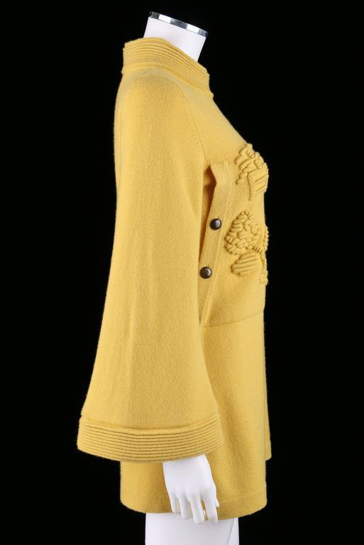 CHANEL PreFall 2010 Shanghai Collection Yellow Cashmere Tunic Knit Sweater Dress 2