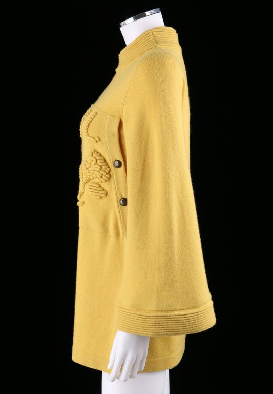 CHANEL PreFall 2010 Shanghai Collection Yellow Cashmere Tunic Knit Sweater Dress 4
