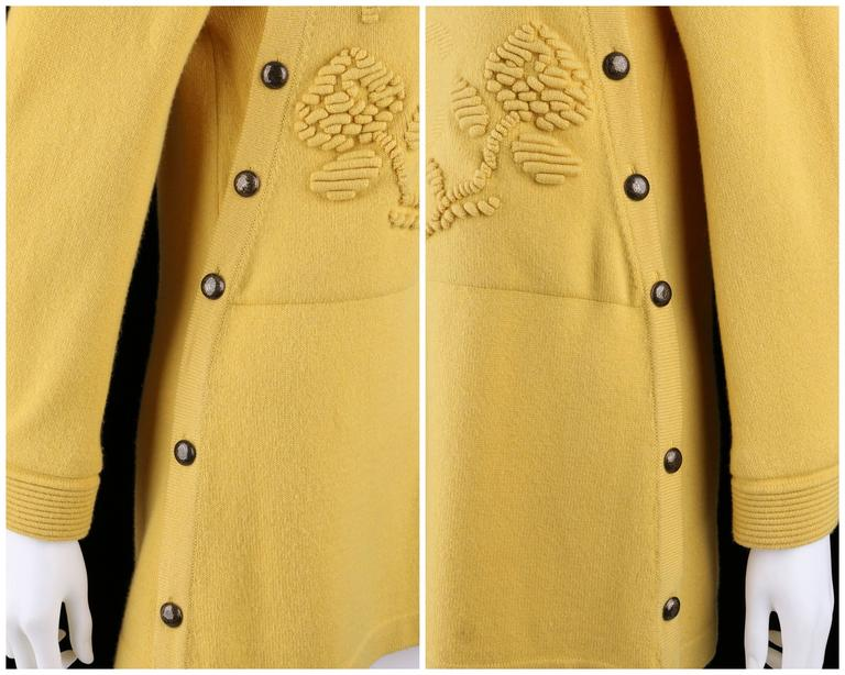 CHANEL PreFall 2010 Shanghai Collection Yellow Cashmere Tunic Knit Sweater Dress 7