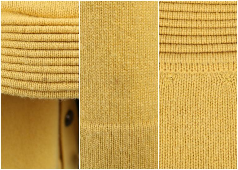 CHANEL PreFall 2010 Shanghai Collection Yellow Cashmere Tunic Knit Sweater Dress 10