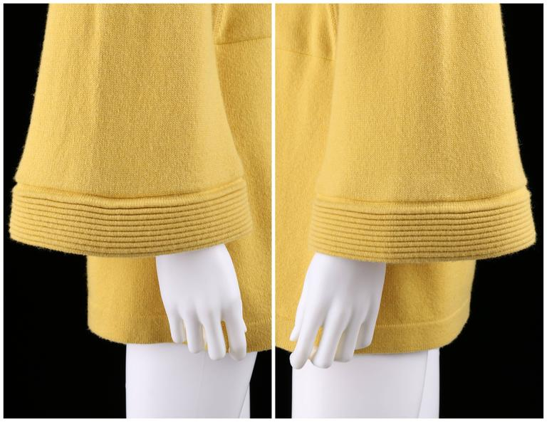 CHANEL PreFall 2010 Shanghai Collection Yellow Cashmere Tunic Knit Sweater Dress 8