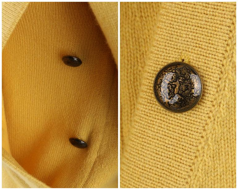 CHANEL PreFall 2010 Shanghai Collection Yellow Cashmere Tunic Knit Sweater Dress 9