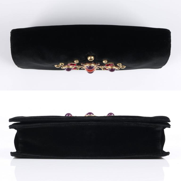 "YVES SAINT LAURENT YSL 2005 Collection ""Jeweled Sac Venise"" Clutch Handbag Purse 7"