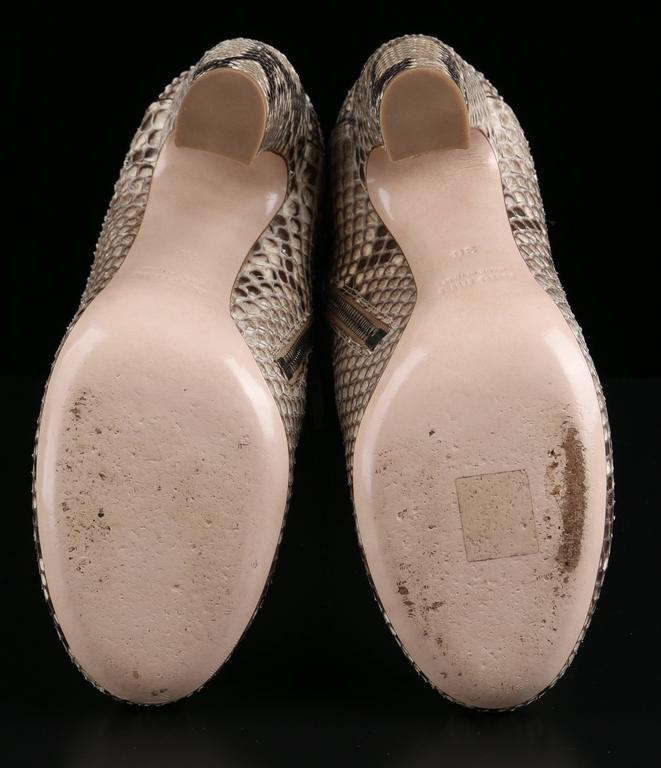 "MIU MIU PRADA ""ROCCIA"" Genuine Python Snakeskin Knee High Heeled Boots Size 36 8"