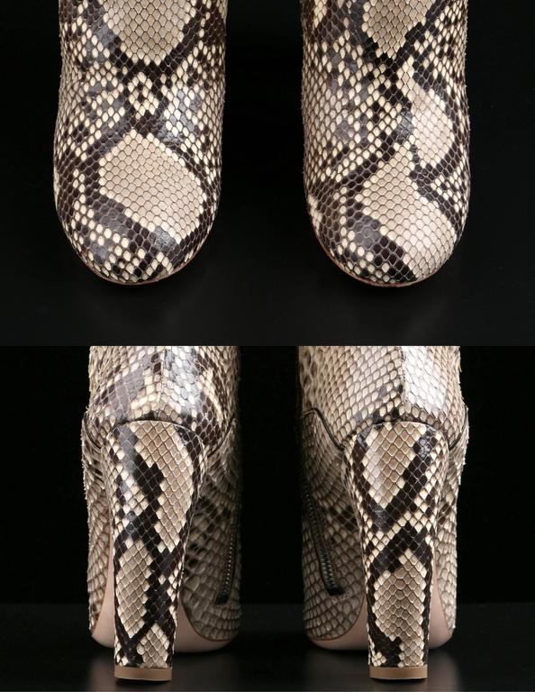 "MIU MIU PRADA ""ROCCIA"" Genuine Python Snakeskin Knee High Heeled Boots Size 36 For Sale 2"
