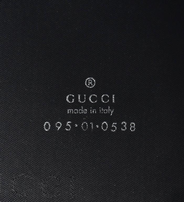GUCCI Signature GG Gucissima Print Black Canvas Coozy Koozie Ltd Edition Gift For Sale 2