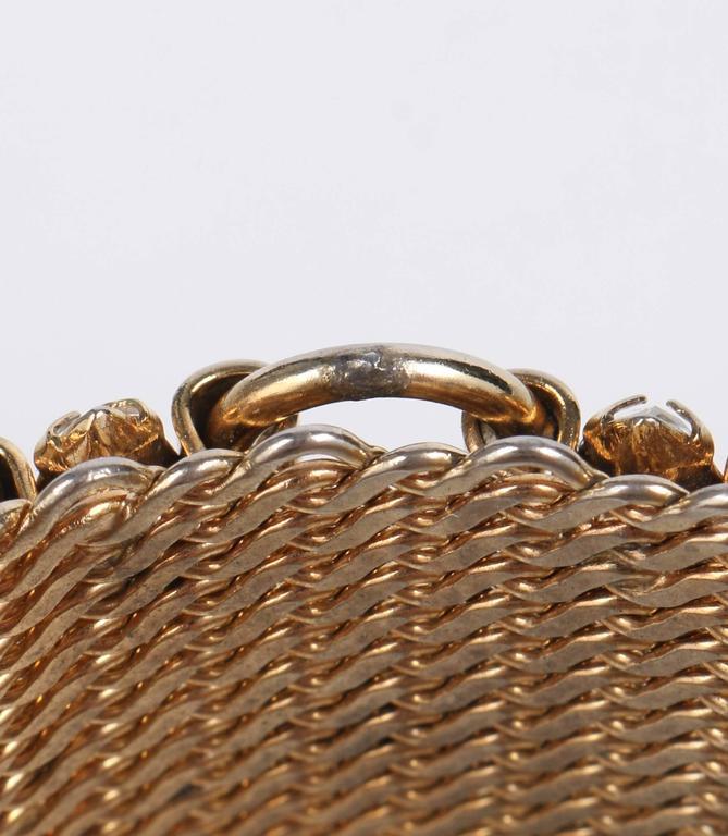 HATTIE CARNEGIE c.1960's Gold Marquise Crystal Rhinestone Wide Cuff Bracelet For Sale 6
