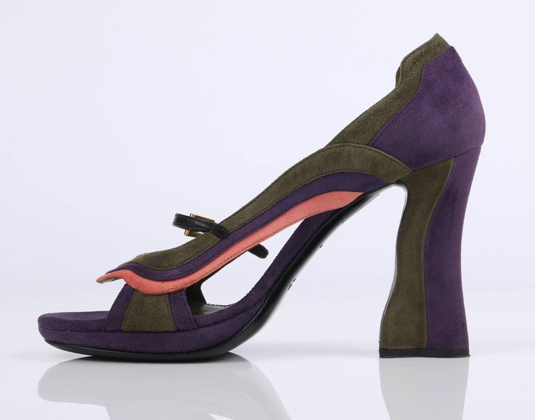 2008 Suede Wave Ss Prada Block Fairy Collection Heels Color Pumps OnwvSStqHW