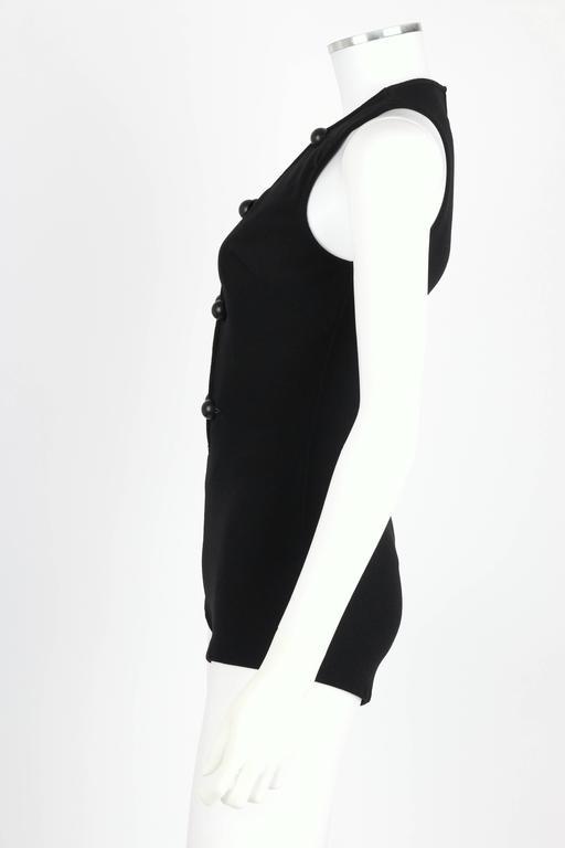 DONALD BROOKS For Sinclair c.1960's Black Plunging Bathing Suit Playsuit Romper 5