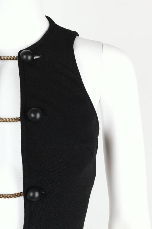 DONALD BROOKS For Sinclair c.1960's Black Plunging Bathing Suit Playsuit Romper 8