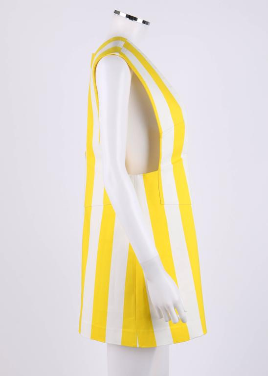 "JACQUEMUS S/S 2015 ""Les Parasols de Marseille"" Yellow Striped Asymmetrical Top 3"