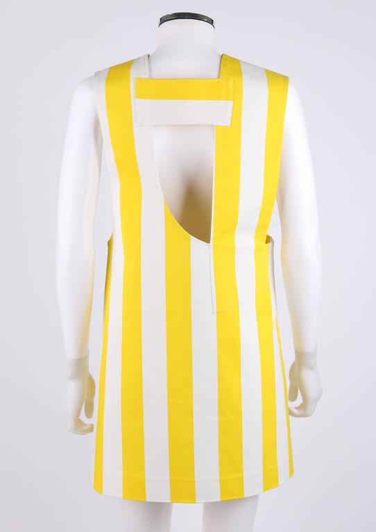 "JACQUEMUS S/S 2015 ""Les Parasols de Marseille"" Yellow Striped Asymmetrical Top 4"