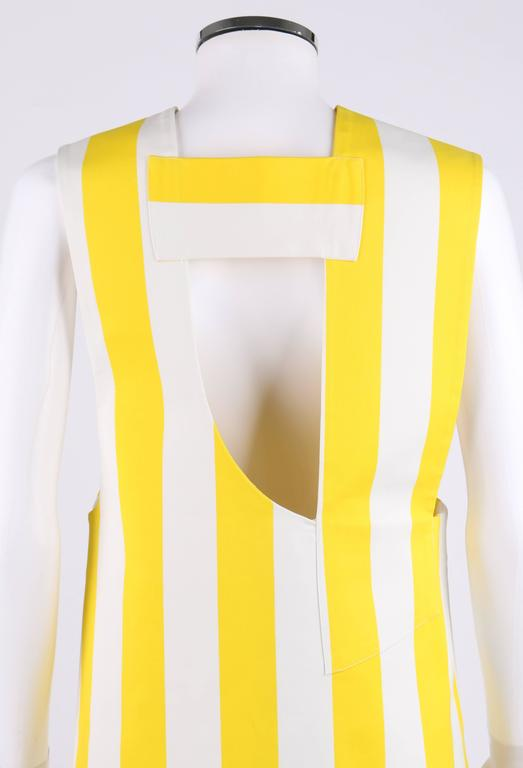 "JACQUEMUS S/S 2015 ""Les Parasols de Marseille"" Yellow Striped Asymmetrical Top 7"