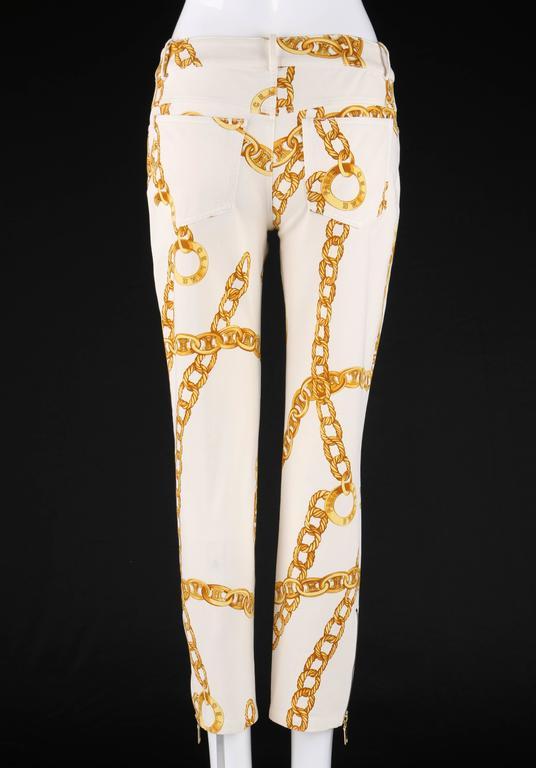 CELINE Spring 2004 MICHAEL KORS Signature Chain Print Cropped Pants 36 4