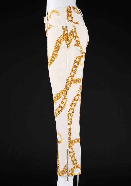 CELINE Spring 2004 MICHAEL KORS Signature Chain Print Cropped Pants 36 5
