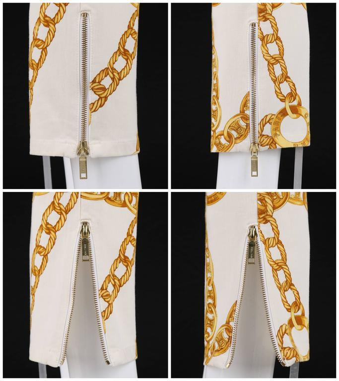 CELINE Spring 2004 MICHAEL KORS Signature Chain Print Cropped Pants 36 6