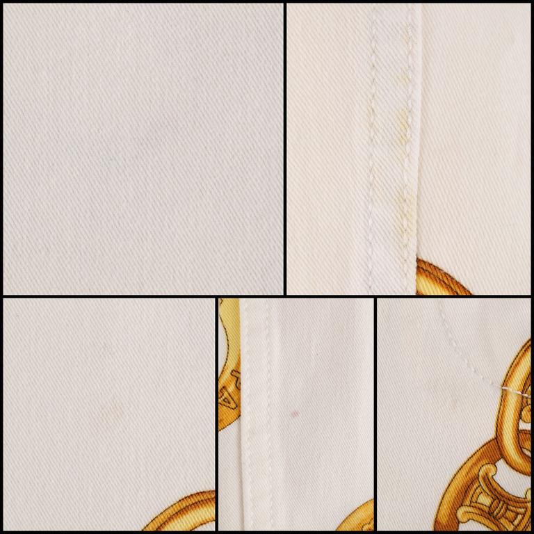 CELINE Spring 2004 MICHAEL KORS Signature Chain Print Cropped Pants 36 10