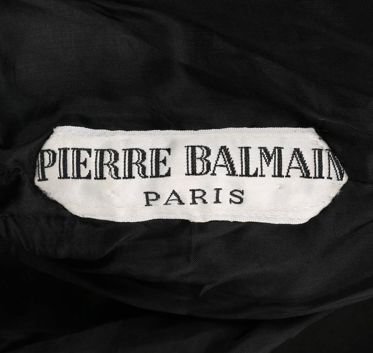 PIERRE BALMAIN c.1960's Black Paillette Hanging Knit Shift Cocktail Go Go Dress For Sale 1