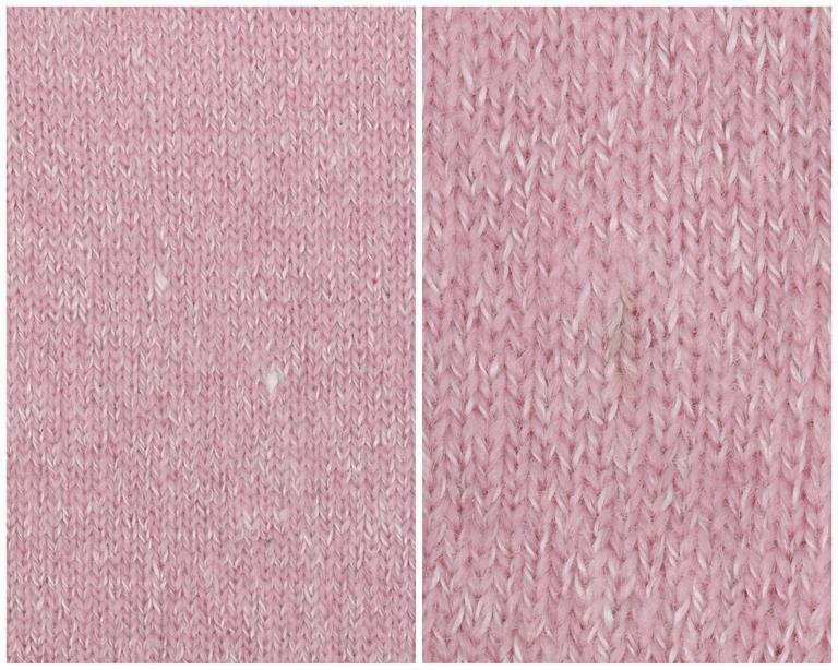 CHANEL Resort 2013 Light Pink Cashmere Linen 3/4 Sleeve Knit Cardigan Sweater For Sale 6