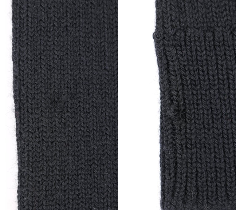 JUNYA WANTANABE for COMME DES GARCONS A/W 2005 Black Wool Knit Leg / Arm Warmers For Sale 5