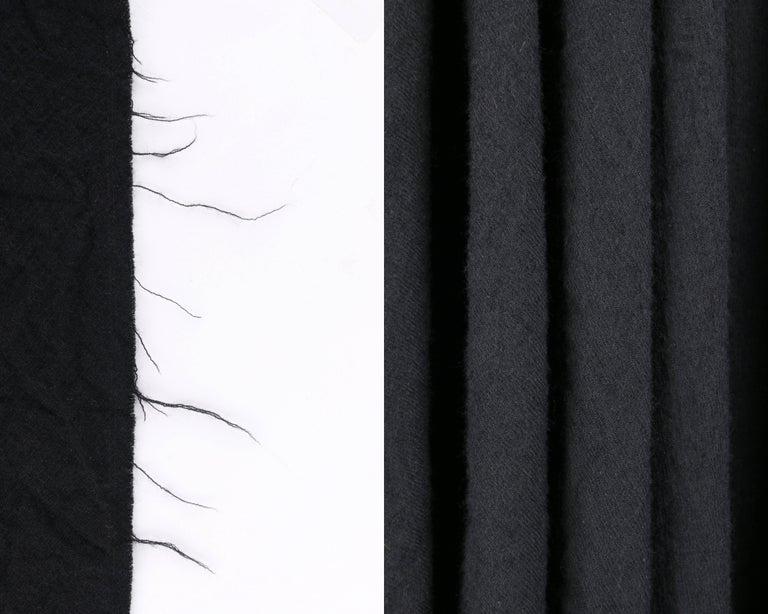 COMME DES GARCONS A/W 2003 Black Wool Handkerchief Hem Convertible Dress / Skirt For Sale 6