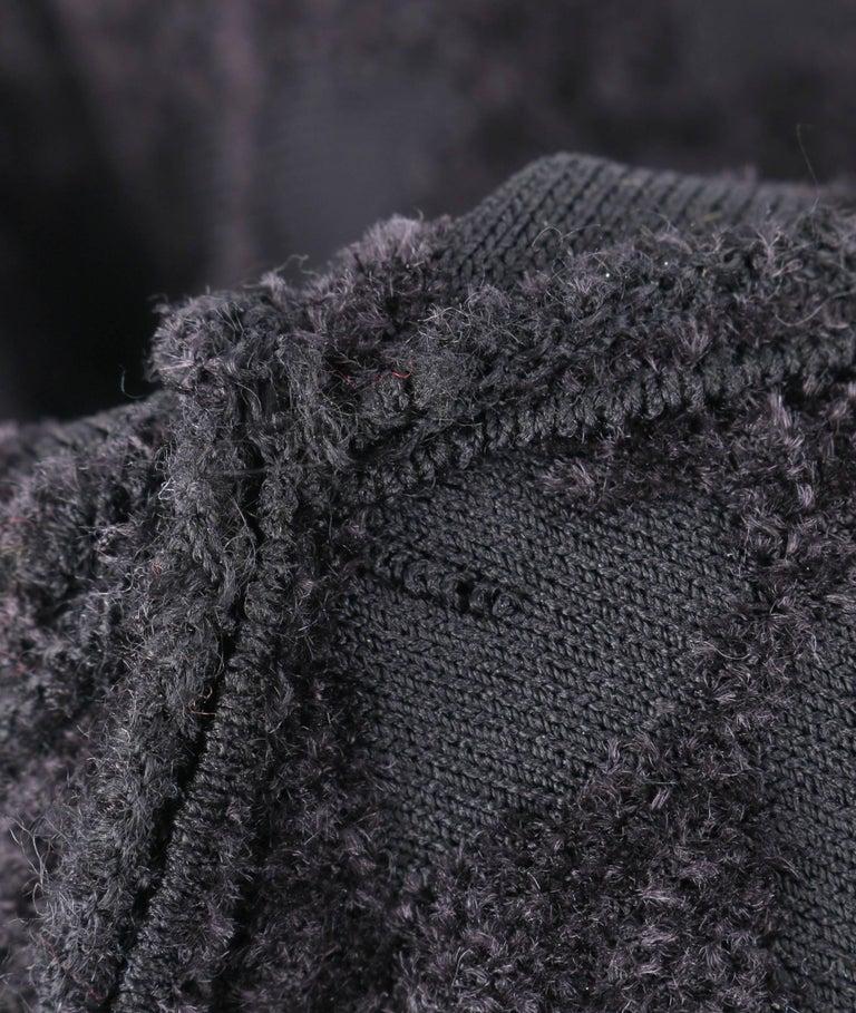 ALAIA Paris Black Heart Patterned Knit Fit & Flare Cocktail Dress 7