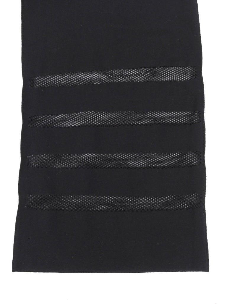 ISSEY MIYAKE A-Poc Inside DAI FUJIWARA Black Knit Mesh Detail Wide Leg Pants For Sale 3