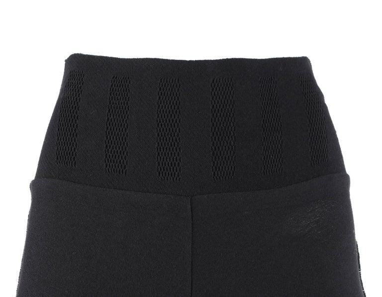 ISSEY MIYAKE A-Poc Inside DAI FUJIWARA Black Knit Mesh Detail Wide Leg Pants For Sale 2
