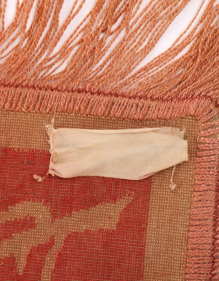 Women's or Men's Art Nouveau Edwardian Red Floral Rose Velvet Fringed Bedspread / Throw c1910s For Sale