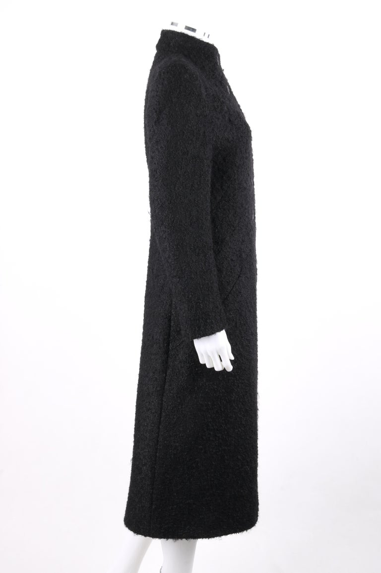 GIVENCHY Couture A/W 1998 ALEXANDER McQUEEN Mohair Exaggerated Shoulder Overcoat In Excellent Condition For Sale In Thiensville, WI