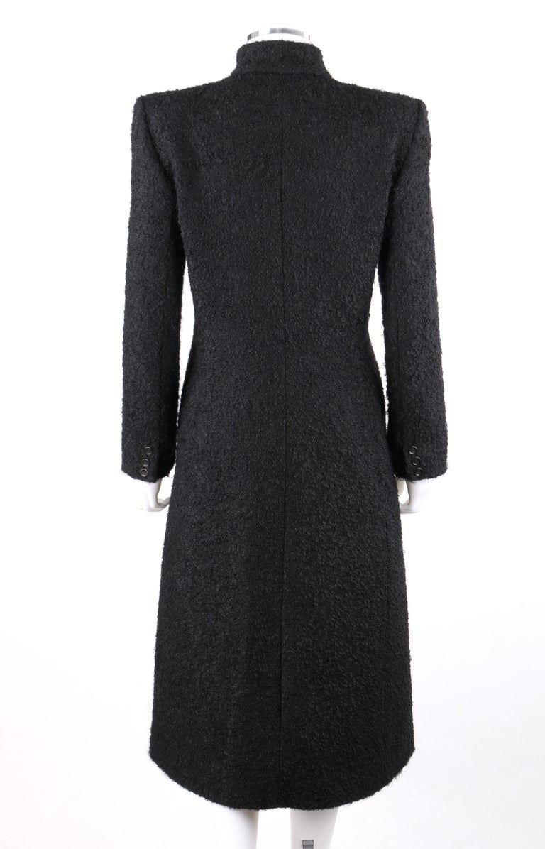 Women's GIVENCHY Couture A/W 1998 ALEXANDER McQUEEN Mohair Exaggerated Shoulder Overcoat For Sale