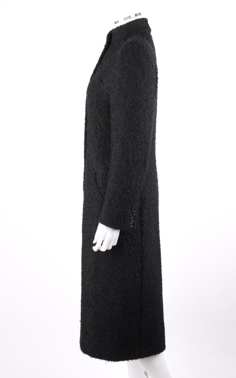 GIVENCHY Couture A/W 1998 ALEXANDER McQUEEN Mohair Exaggerated Shoulder Overcoat For Sale 1