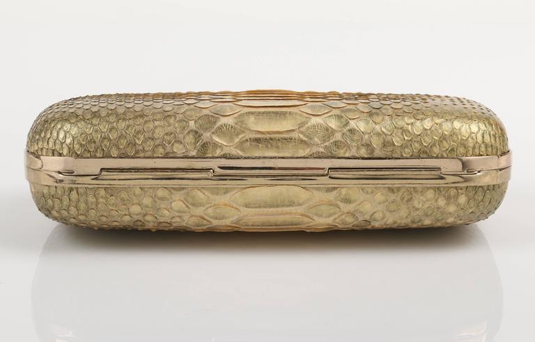 ALEXANDER MCQUEEN c.2012 Gold Genuine Python Snake Skull ...
