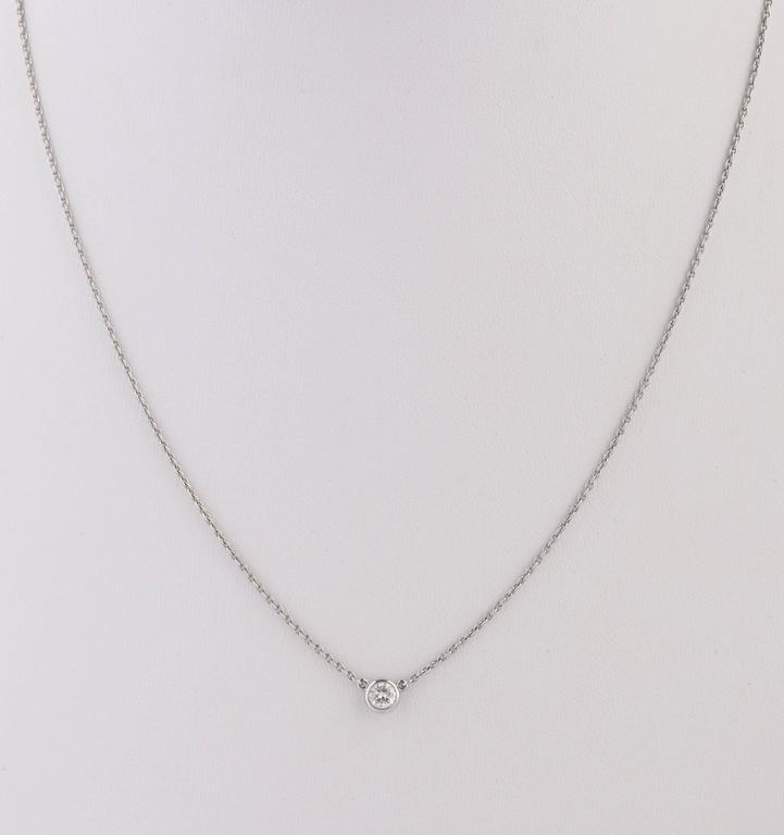 """TIFFANY & CO Elsa Peretti """"Diamonds By The Yard"""" Platinum Necklace Earring Set In Excellent Condition For Sale In Thiensville, WI"""
