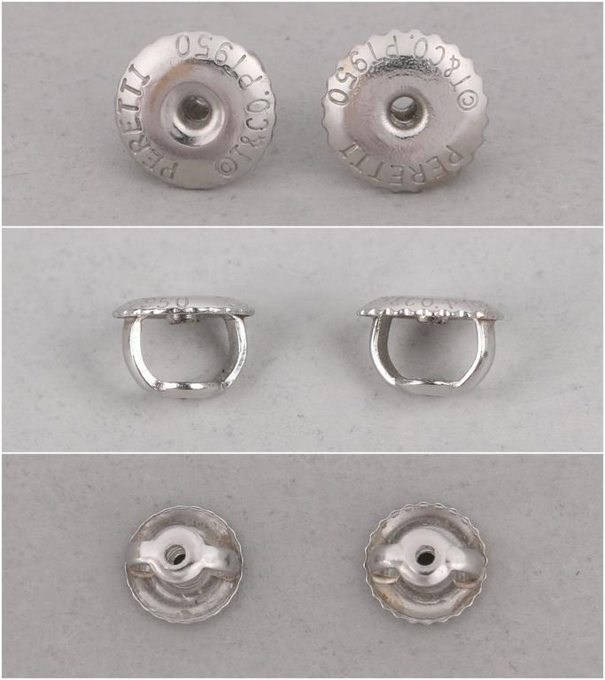 "TIFFANY & CO Elsa Peretti ""Diamonds By The Yard"" Platinum Necklace Earring Set 7"