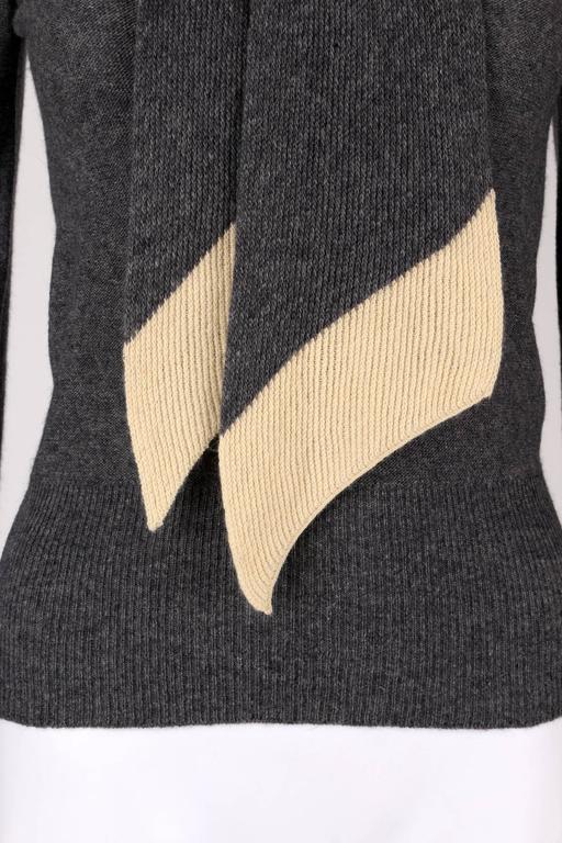 Sonia Rykiel Chez Henri Bendel C 1960 S Gray Wool Knit