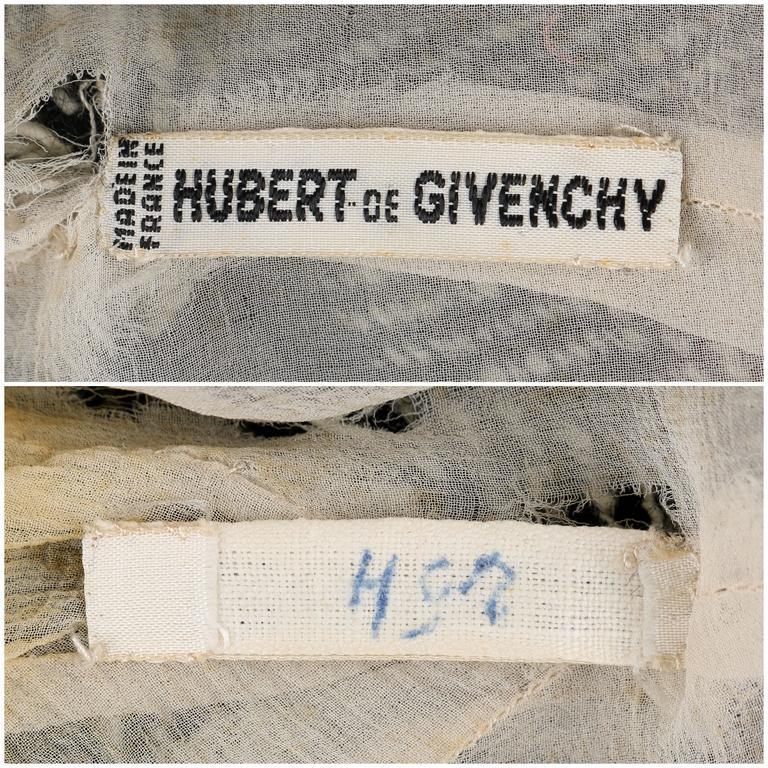 Black HUBERT DE GIVENCHY c.1952 Haute Couture Number