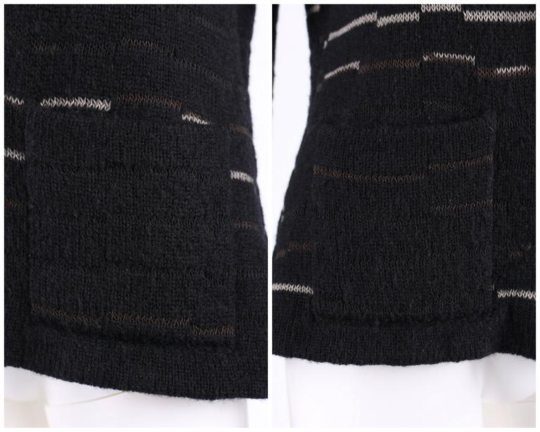 CHANEL A/W 2009 Shawl Collar Button Front Knit Cardigan Sweater Size 40 For Sale 2