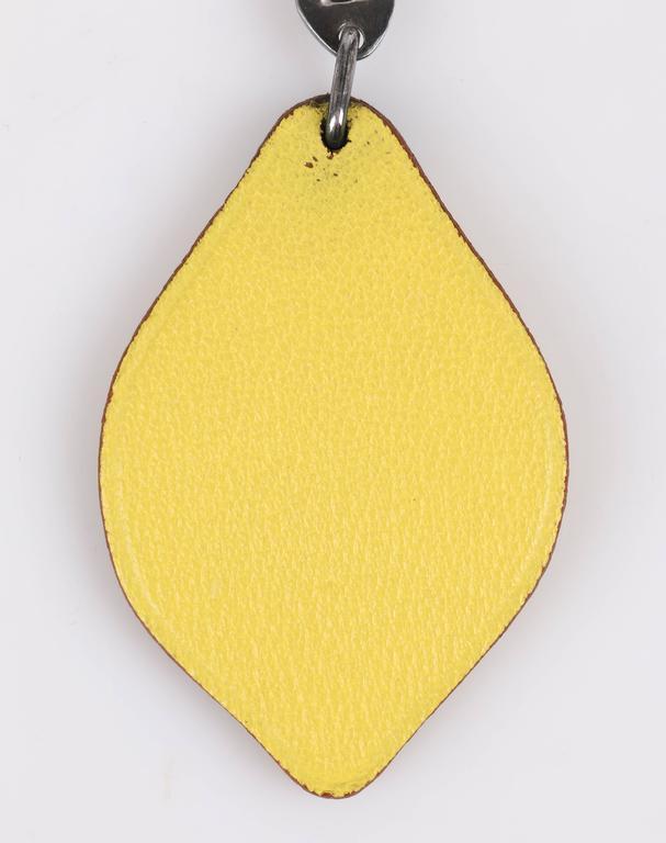 Hermes S S 2005 Jean Paul Gaultier Lemon Leather