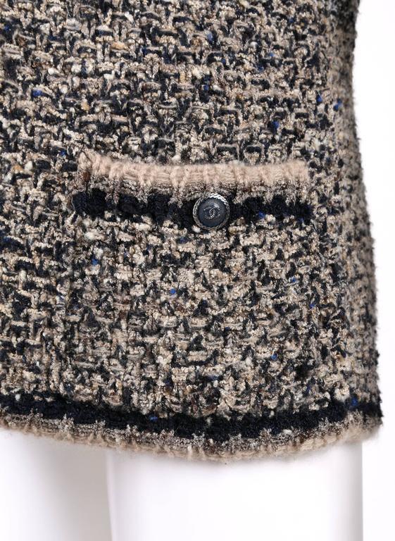 CHANEL A/W 2011 A-Symmetrical Front Side Zip Knitwear Cardigan Jacket 42 For Sale 3