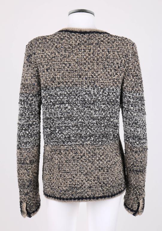 Gray CHANEL A/W 2011 A-Symmetrical Front Side Zip Knitwear Cardigan Jacket 42 For Sale