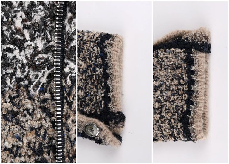 CHANEL A/W 2011 A-Symmetrical Front Side Zip Knitwear Cardigan Jacket 42 For Sale 5
