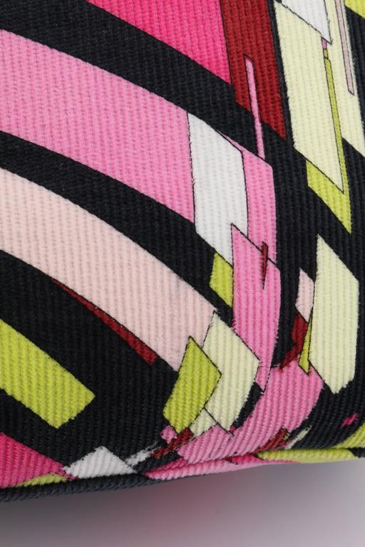 Emilio Pucci Multi Color Signature Geometric Print
