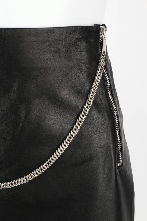 Saint Laurent C 2012 Black Lambskin Leather Silver Chain