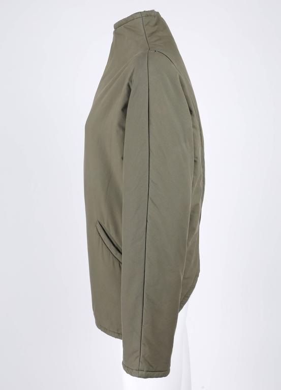 """ALEXANDER McQUEEN A/W 2001 """"What A Merry-Go-Round"""" Green Straight Jacket Coat 4"""