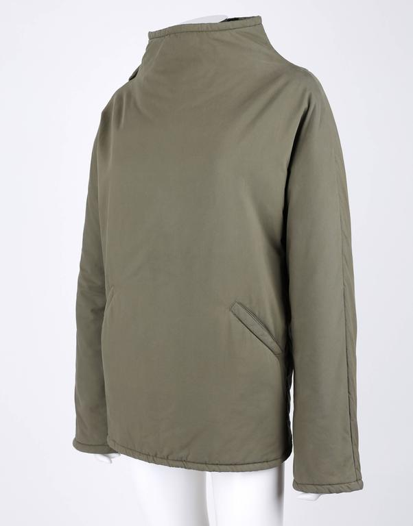 """ALEXANDER McQUEEN A/W 2001 """"What A Merry-Go-Round"""" Green Straight Jacket Coat 5"""